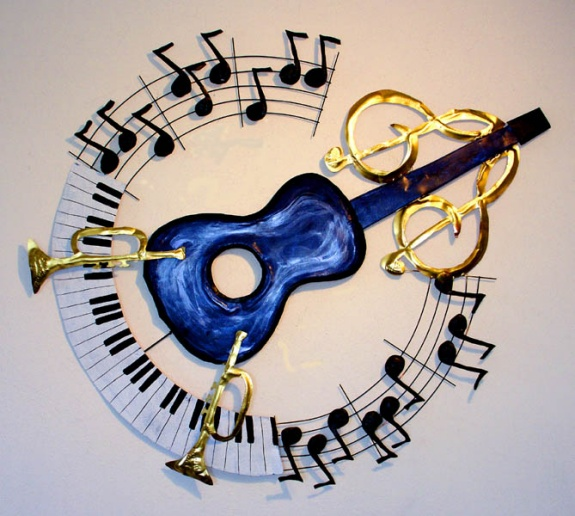 Blues in the Round Wall Sculpture