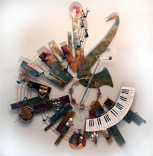 Tribute to Charlie Wall Sculpture