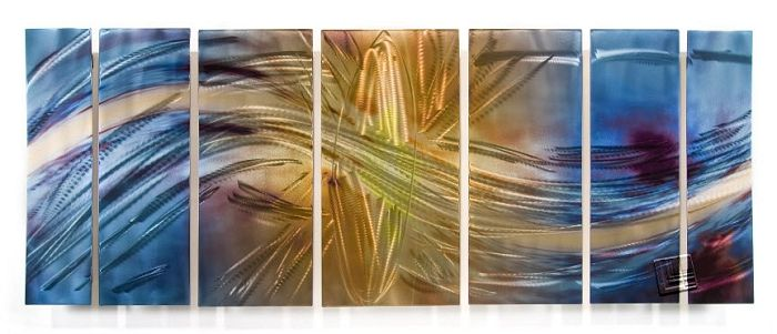 Modern Art Metal Wall Panels Set