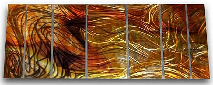 Abstract Art Metal Wall Panels Set
