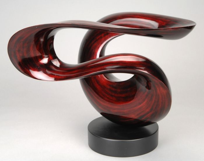 Quot wind free form lacquered wood sculpture stohans showcase
