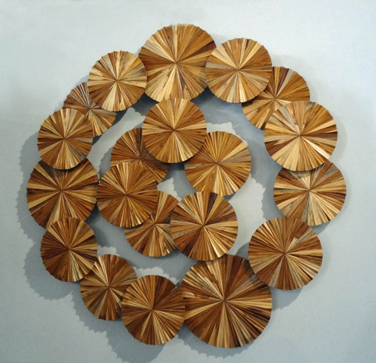 """Kaleidoscope Wheels"" Modern Wall Sculpture"