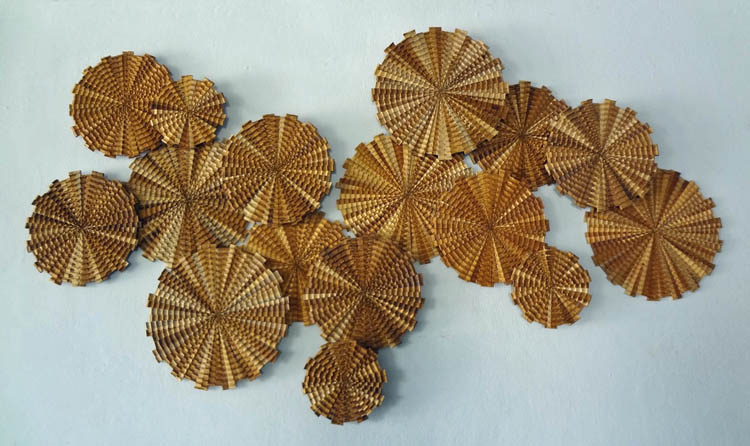 Pinwheels Panorama Wood Wall Sculpture By Doi Huang