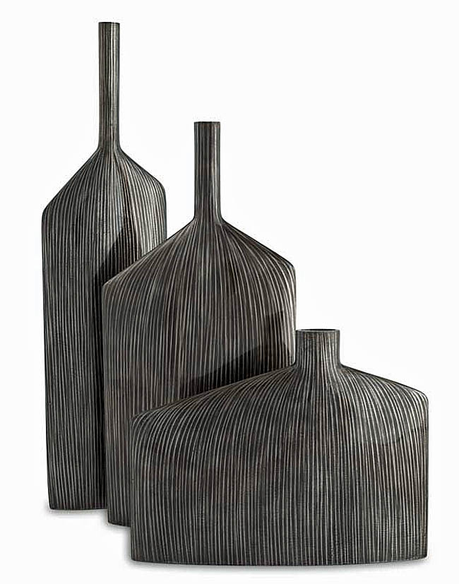 """Angular Vases Set ""  Contemporary Decorative Vases"
