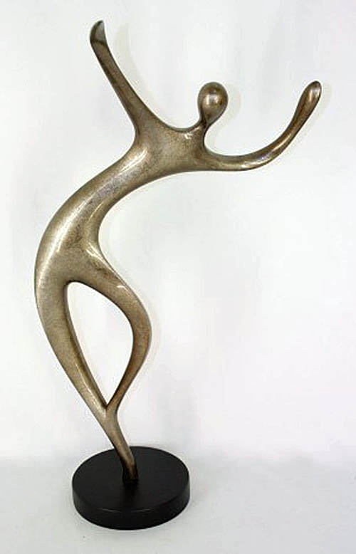 """Dancer I""  Abstract Wood Sculpture"
