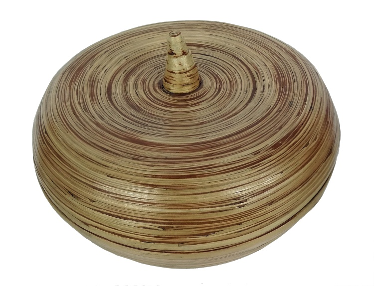 Bamboo Large Bowl with Pointed Lid