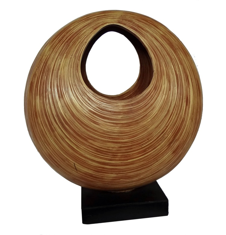 Bamboo Elliptical Sculpture-Large Red