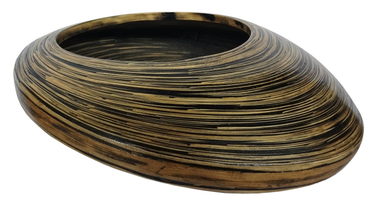 Bamboo Shallow Decorative Bowl
