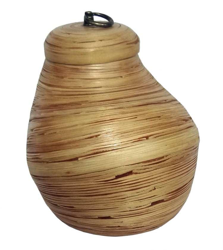 Bamboo Lidded Vase-Small