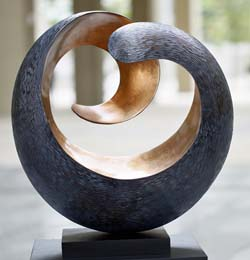 """Tranquility"" Modern Wood Sculpture"