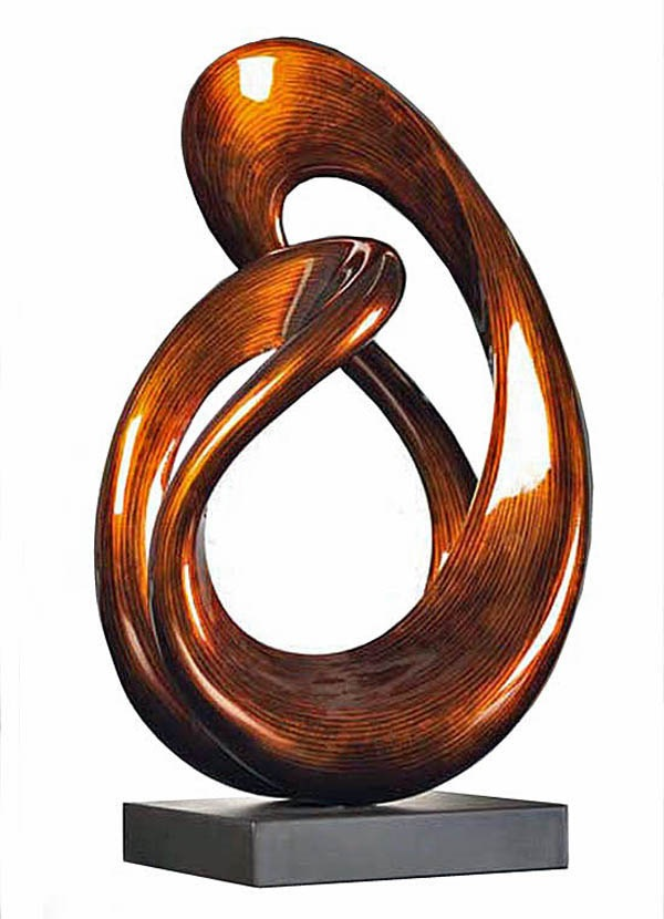 """Unity"" Contemporary Fiber Wood Sculpture"