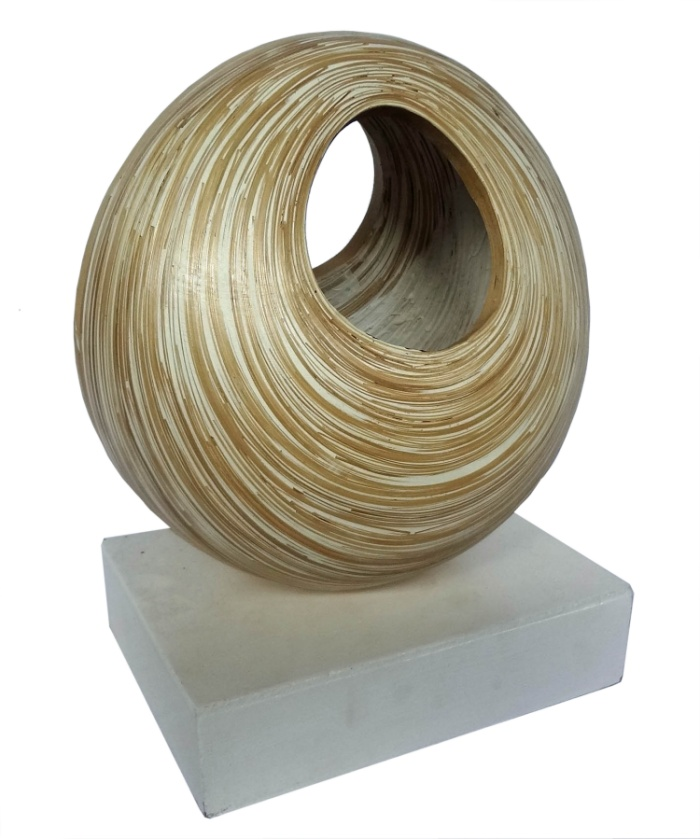 Bamboo Sculpture-Small White