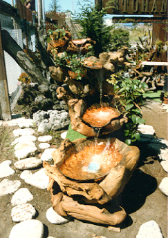 W.Outdoor Driftwood Waterfall